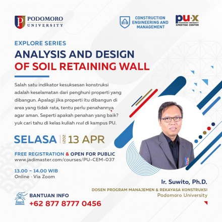 Analysis and Design of Soil Retaining Wall
